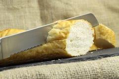 Французское вырезывание хлеба ручки Стоковое Изображение
