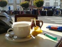 Французское кафе Стоковая Фотография