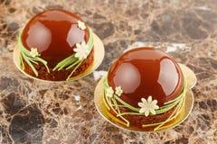 Французское печенье с поливой шоколада Стоковое фото RF