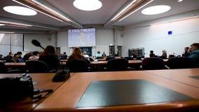 Французское посещение президента Emmanuel Macron на Европейском суде по правам человека в страсбурге, Франции