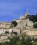 французское село вершины холма Стоковое Фото