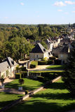 Французское село в долине Loire (Rigny-Ussé) Стоковое Изображение