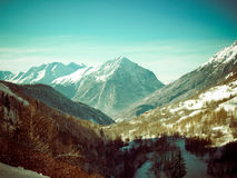 Французское d'Huez Alpe горы Стоковые Фото