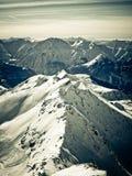 Французское d'Huez Alpe горы Стоковые Изображения RF