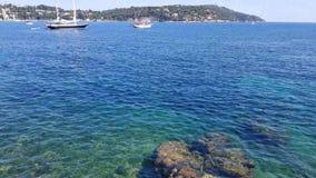 французское villefranche sur riviera mer сток-видео