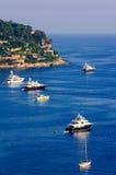 французское villefranche sur riviera mer стоковые изображения