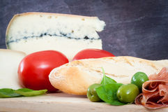 Француз, европейский выбор завтрака Стоковое Изображение
