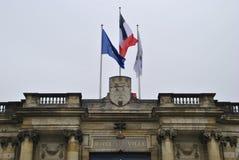 Француз сигнализирует на Гостинице de Ville в Бордо стоковая фотография rf