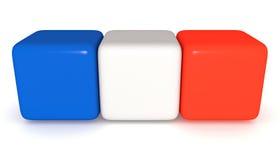Француз сигнализирует, Tricolor кубы, иллюстрация 3d Стоковое Фото