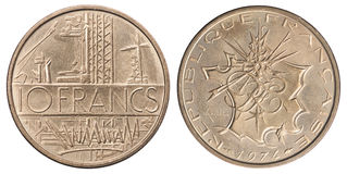 Француз 10 франков Стоковые Фото