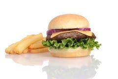 франчуз жарит гамбургер Стоковые Фото