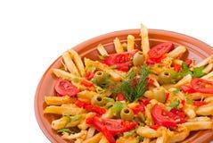 франчуз жарит золотистый прованский томат картошек Стоковая Фотография RF
