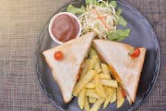 франчуз жарит сандвич Стоковые Фото