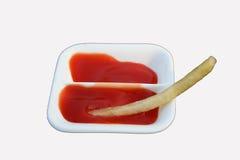 франчуз жарит ketchup стоковое фото