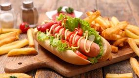 франчуз собаки жарит горячий Стоковое Фото