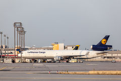 Фрахтовщик McDonnell Douglas MD-11 груза Люфтганзы Стоковое фото RF