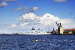 Фрегат королевского датского военно-морского флота стоковые изображения rf