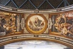 Фреска бога Стоковое Изображение