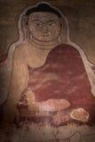 Фреска Будды на стене в виске Bagan, Мьянме стоковое изображение