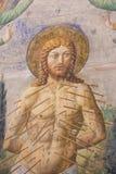 Фреска в San Gimignano - мученичество St Sebastian Стоковые Фото