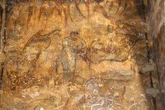 Фреска на замке пустыни Quseir (Qasr) Amra около Аммана, Джордана Стоковые Фотографии RF