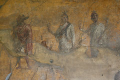Фреска Помпеи Неаполь (Италия) стоковое фото rf