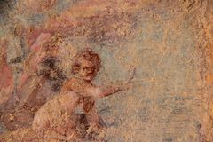 Фреска Помпеи Стоковое Фото