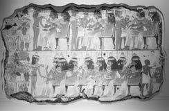 Фреска Aegyptian на великобританском музее в Лондоне черно-белом Стоковые Изображения
