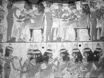 Фреска Aegyptian на великобританском музее в Лондоне черно-белом Стоковые Изображения RF