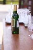 Фреска al бутылки белого вина - изображение запаса Стоковое фото RF