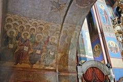 Фреска Andrei Rublev стоковые изображения rf