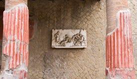 фреска herculaneum стоковое изображение