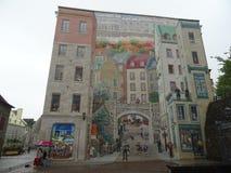Фреска Quebecois в Квебеке (город) иллюстрация вектора