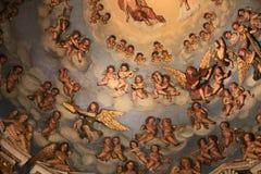 Фрески аббатства Tolentino, Марша, Италии стоковая фотография