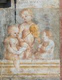 Фрески на случае Cazuffi-Rella в Trento - ангелах Стоковое Изображение