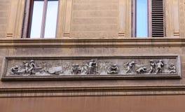 Фриз на старой стене Стоковые Фотографии RF