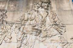 Фриз с сбросом, в мемориальном Ernesto Че Гевара clara santa Куба Стоковое Изображение RF
