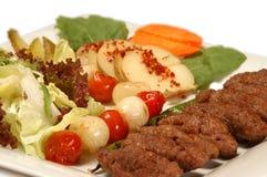 Фрикаделька и овощ Стоковое Фото