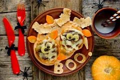 Фрикадельки мумии - идея обедающего хеллоуина Стоковые Фото