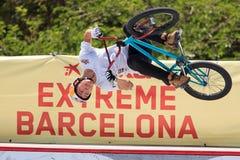 Фристайл весьма Барселона 2014 BMX Стоковая Фотография