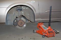 фронт автомобиля отсутствие колеса Стоковые Изображения RF