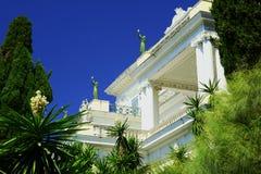 Фронт дворца Achilleon Стоковое фото RF