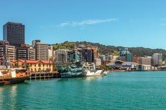 Фронт гавани, Веллингтон, Новая Зеландия Стоковое Изображение RF