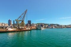 Фронт гавани, Веллингтон, Новая Зеландия Стоковые Фотографии RF