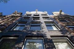 Фронт дома Амстердама Нидерландов, Grachtendpand Амстердама стоковые изображения