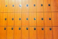 Фронт деревянного шкафчика Стоковое фото RF