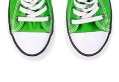 Фронт зеленых тапок Стоковые Фотографии RF