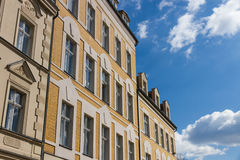 Фронт зданий в старом городке в Германии Стоковые Фотографии RF