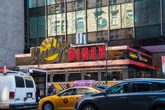 Фронт известного обедающего Бруклина расположенного в Манхэттене, Нью-Йорке стоковые изображения