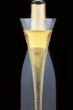 фронт каннелюры шампанского бутылки Стоковое фото RF